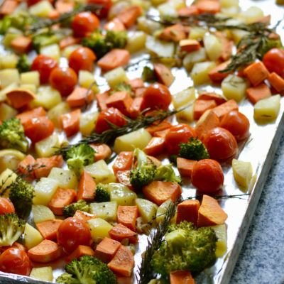 Honey Garlic Roasted Vegetables